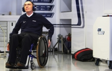 SUZUKA, JAPAN - OCTOBER 02: Williams Team Principal Sir Frank Williams is seen in his team garage during practice for the Japanese Formula One Grand Prix at Suzuka Circuit on October 2, 2009 in Suzuka, Japan. (Photo by Mark Thompson/Getty Images) *** Local Caption *** Frank Williams